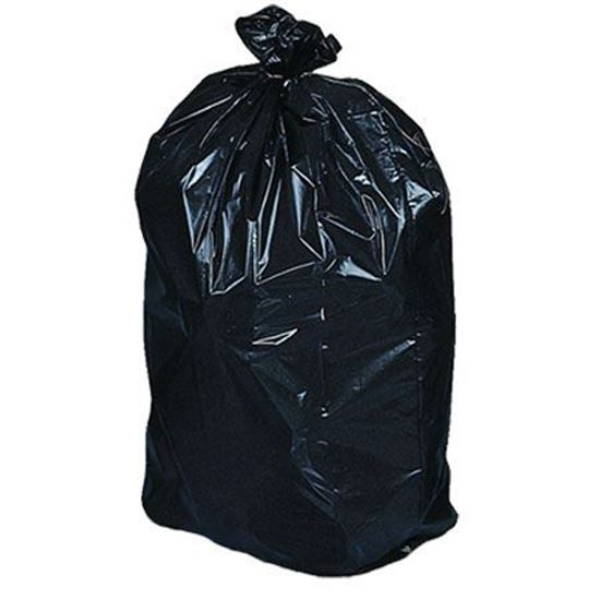 Picture of Garbage bags 35''x47'' Black Extra-strong (100/CS)