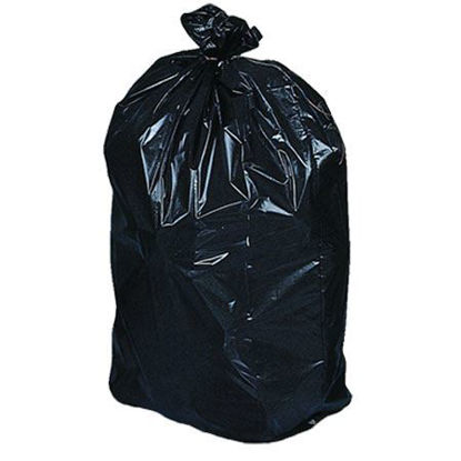 Picture of Garbage Bags 35''x 50'' Extra-Strong Black (100/CS)