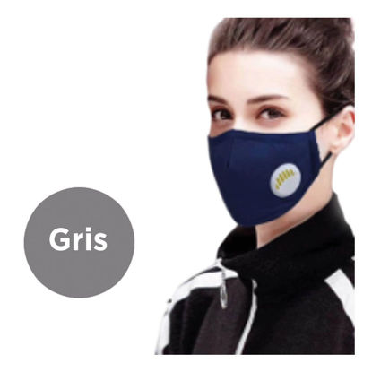 Picture of REUSABLE FACE MASK WITH VALVE AND FILTER - GREY