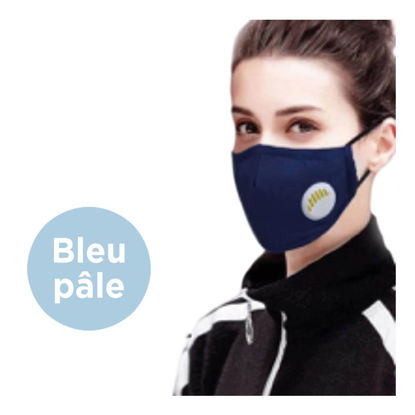 Picture of REUSABLE FACE MASK WITH VALVE AND FILTER - LIGHT BLUE